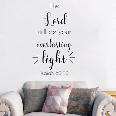 Bible Verse Proverbs Wall Sticker