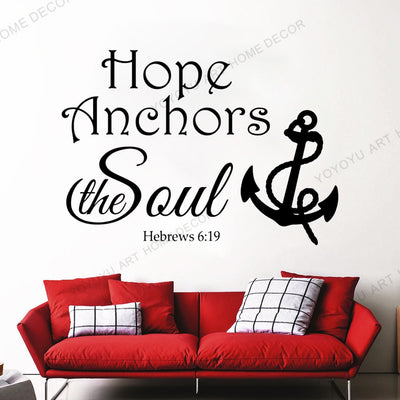 Bible Verse Wallpaper Mural Wall Sticker