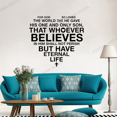 Christian Scripture Jesus Wall Sticker