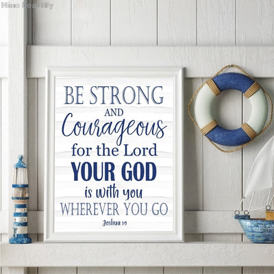 Christian Typography Art Canvas