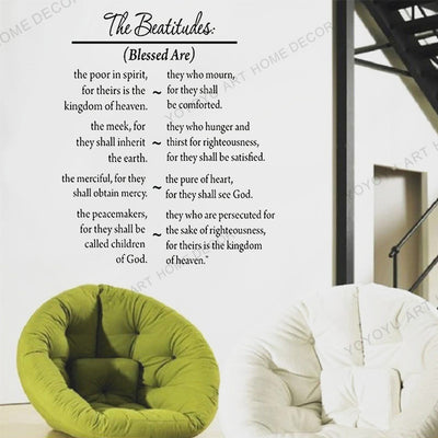 Bible Verse Quotes Wall Stickers