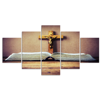 Christian Bible Cross Wall Art Painting