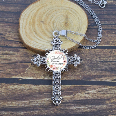 Serenity Prayer Necklace - Cross Pendant | Salvation