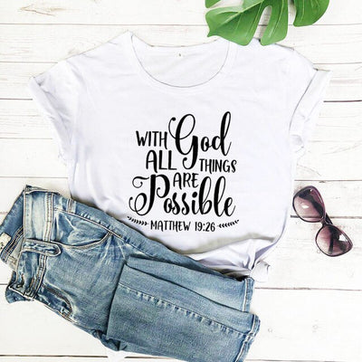 Matthew Bible Quote T-Shirt