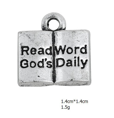 Bible Book Charms Christianity Jewelry
