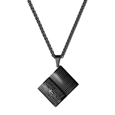 Stainless Steel Christian Power Necklace