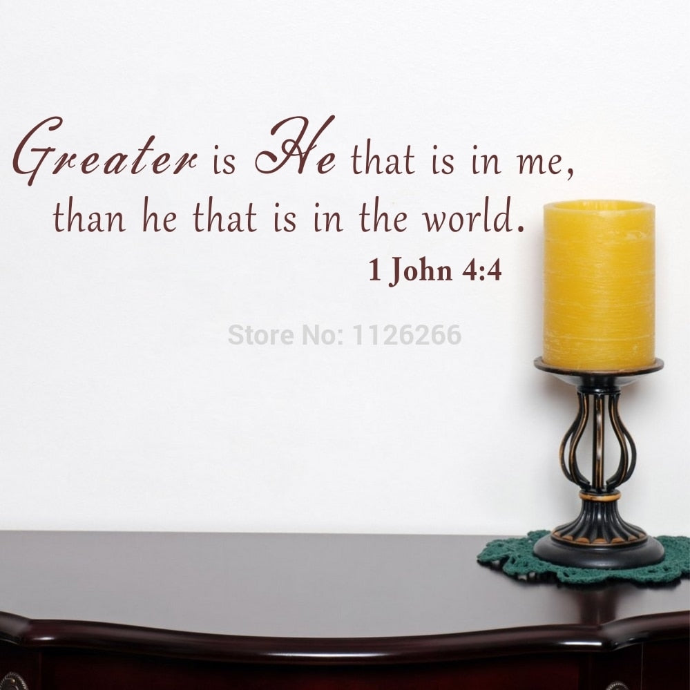 Bible Quote Christian Vinyl Wall Art