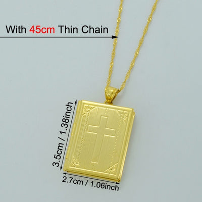 Gold Color Crucifix Jewelry