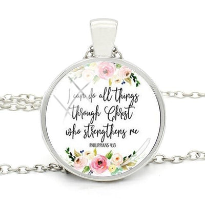 Christ Bible Verse Pendant Necklace