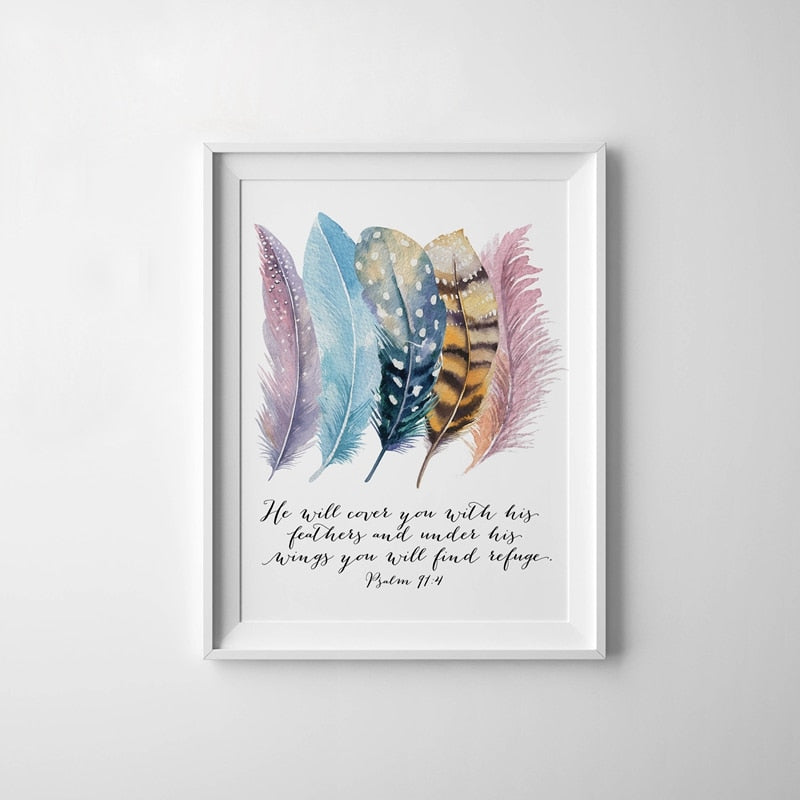Christian Quotes Wall Art Painting