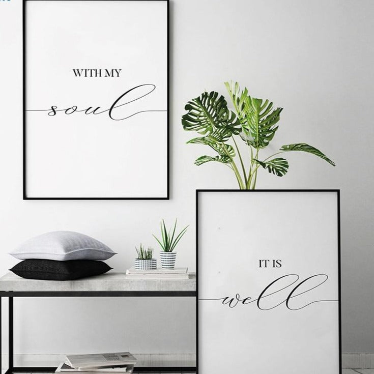 Bible Verse Couple Art Print Canvas