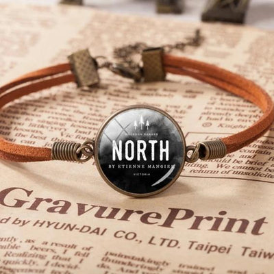 Christian Quote Leather Bracelet