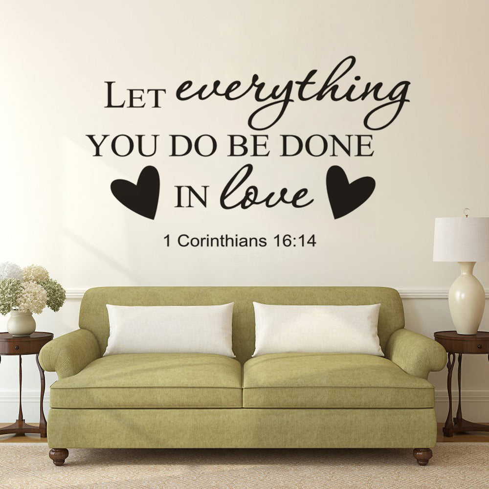 Bible Verse Creative Wall Art Sticker