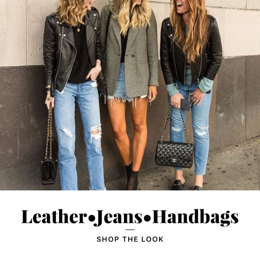 Leather, Jeans, Booties and Cross body bags