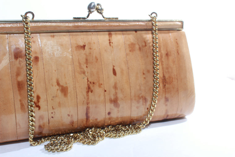 Vintage Patten leather wooden crossbody