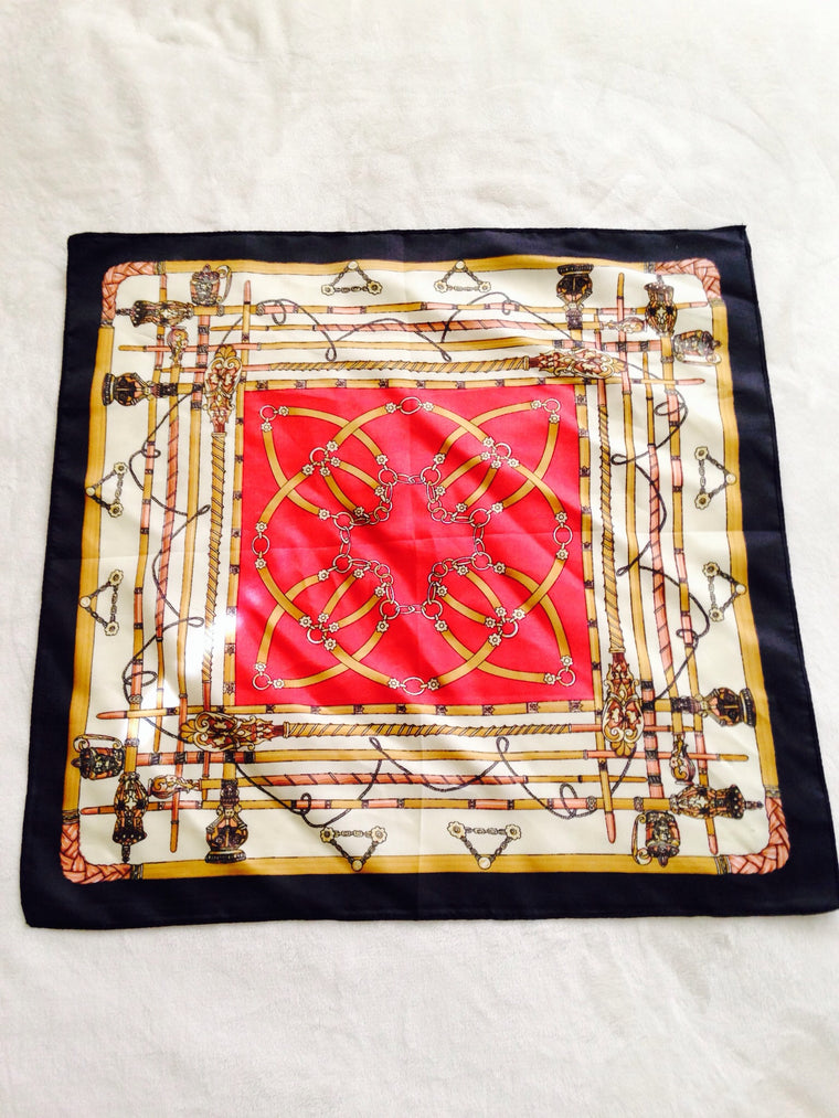Vintage Couture Silk Scarf