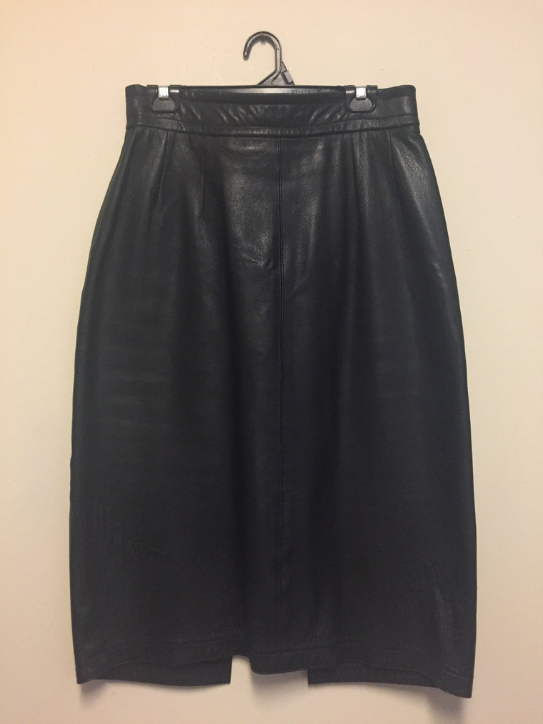 Vintage St. Jillian High-waisted leather skirt