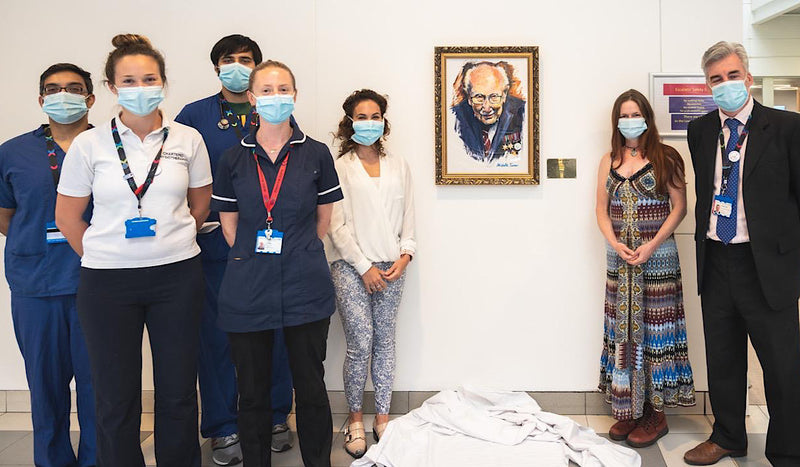 Captain Sir Tom Moore portrait unveiled at Westminster and Chelsea Hospital
