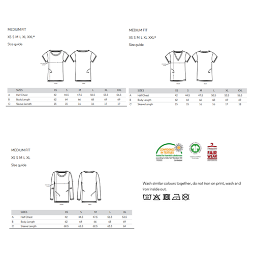 T-shirt size guide