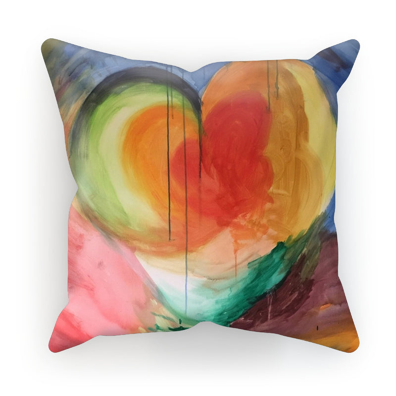 Heart of Life by Michelle Turner. Heart of Life cushions are a great way to style your home and add a splash of colour. Make it yours with a choice of fabrics: super-soft faux suede, beach-house linen, or versatile cotton canvas... Zip-back cover for easy removal and care. Includes polyester inner cushion. Free UK Delivery