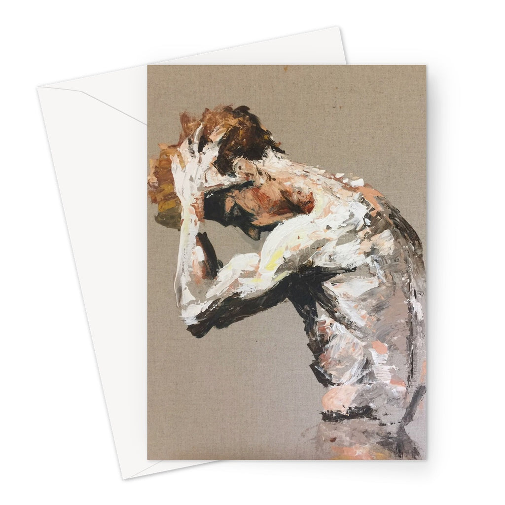 The Torso by Michelle Turner. This painting is of Steven McRae Principal male dancer at the Royal Ballet. These greetings cards are blank for you to personalise your message and printed on high-quality 330gsm Fedrigoni card.  Free UK Delivery