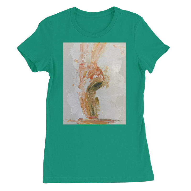Pirouette of Life by Michelle Turner. Women's T-shirt featuring a slim feminine fit, crew neck, short sleeves and superior Airlume combed and ring-spun cotton. Offered in a variety of colours. Free UK Delivery