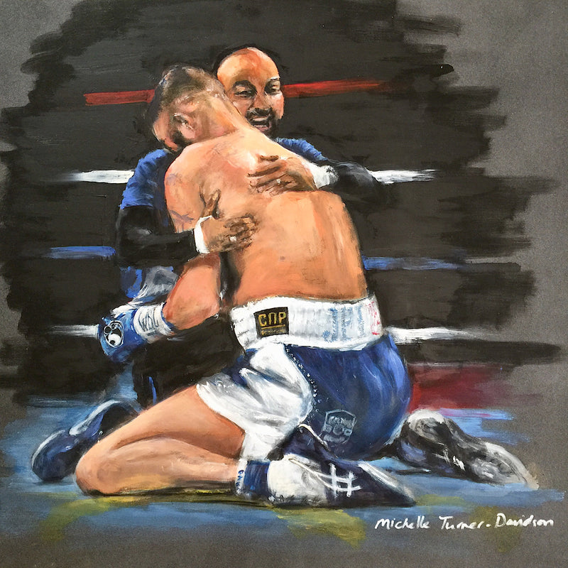 Tony 'Bomber' Bellew, World Champion Cruiserweight 'The Final Bell'  of his career before retiring from boxing. Original painting by Michelle Turner