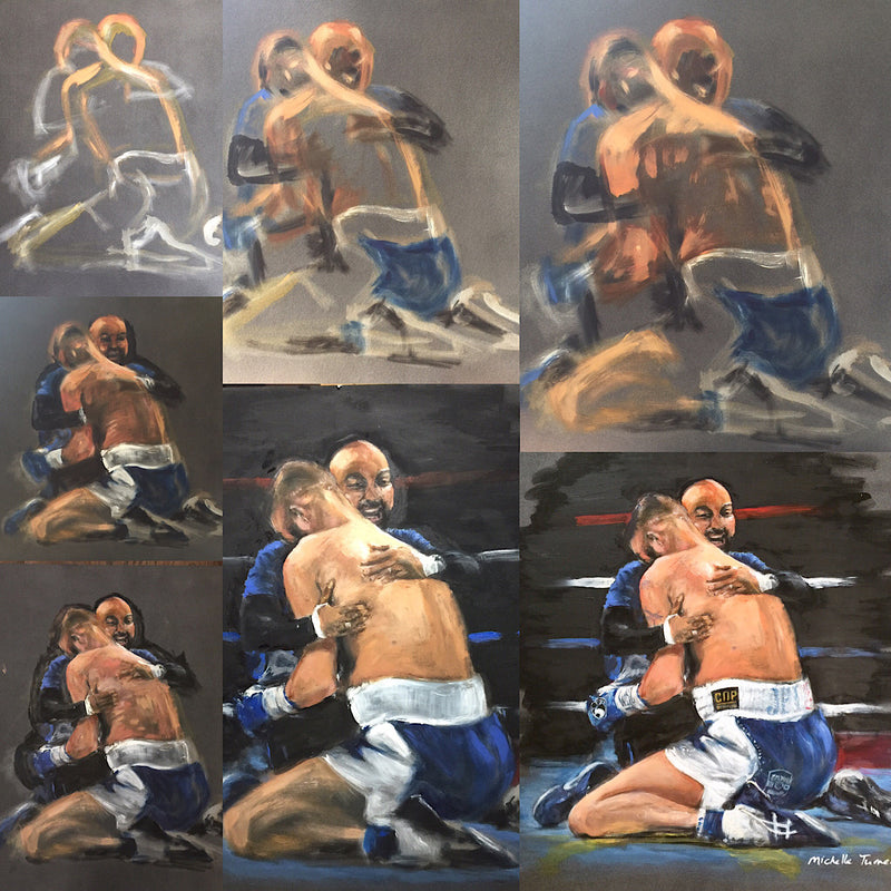 'The Essence' of Tony 'Bomber' Bellew, World Champion Cruiserweight 'The Final Bell' before retiring from boxing original painting by Michelle Turner