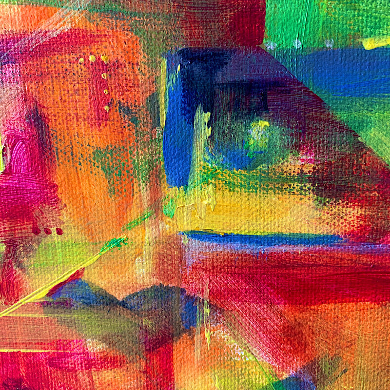 'Discombobulation' original abstract by Michelle Turner, Acrylic on Canvas. Detail. Unframed Wrapped Canvas Size: 42 x 60cm