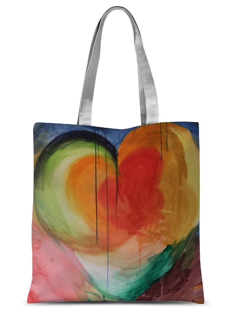 Heart of Life by Michelle Turner. Our versatile Heart of Life Tote bags are 100% luxury Polyester with black webbing long handles. Free UK delivery