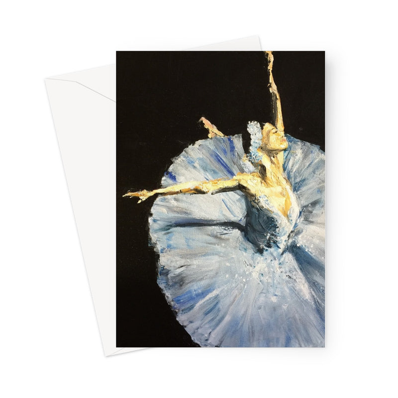 In the Spotlight by Michelle Turner, for all the dancers and ballet lovers in your life. Blank inside for your own personal message, these greetings cards are printed on high-quality 330gsm Fedrigoni card. Free UK Delivery