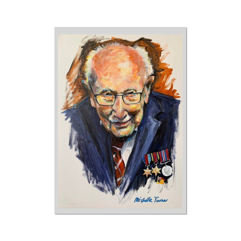 Captain Sir Tom Moore Fine Art Print