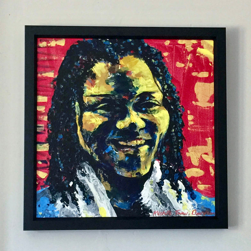 Original Painting. Abstract portrait of the smile. No matter what is going on in our lives a smile is the simplest and most heartwarming gift we can give. It costs nothing to give yet its value is immense.