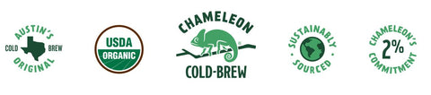 Chameleon Cold Brew is Austin's Texas Original Cold Brew, Sustainably Sourced, and USDA Organic
