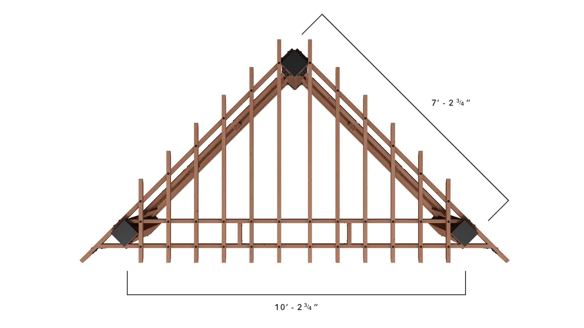 Cabana Pergola Dimensions - Top View