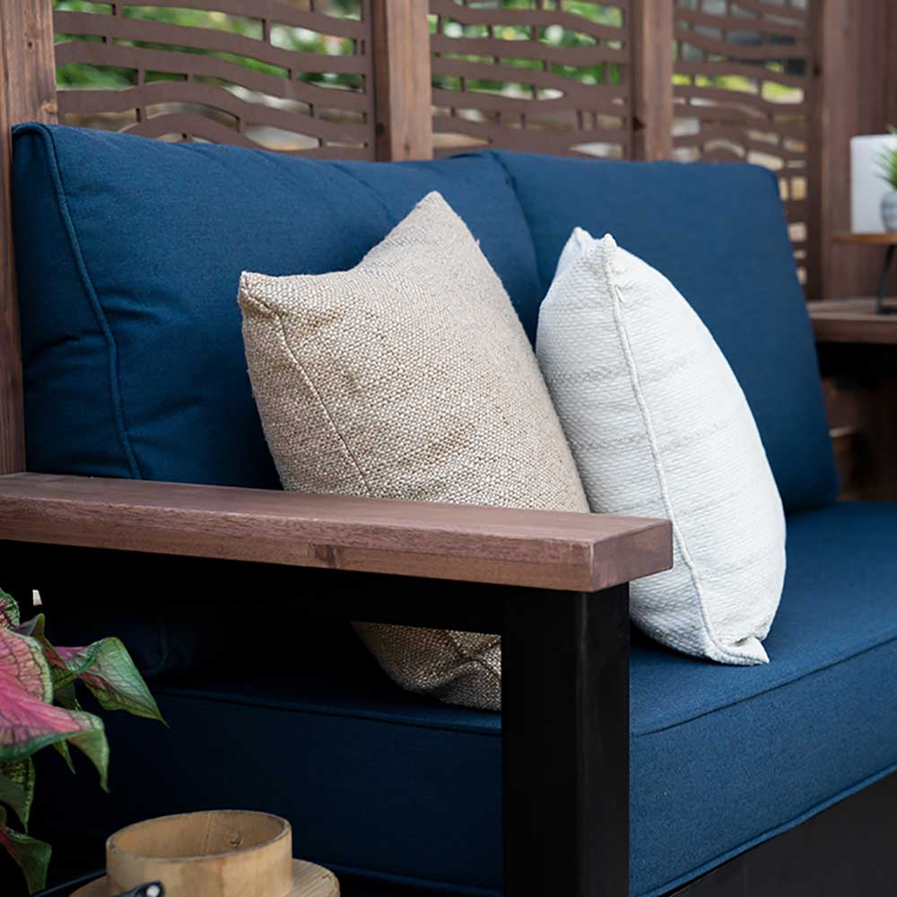Backyard Discovery Cabana Fireside Bamboo Blue
