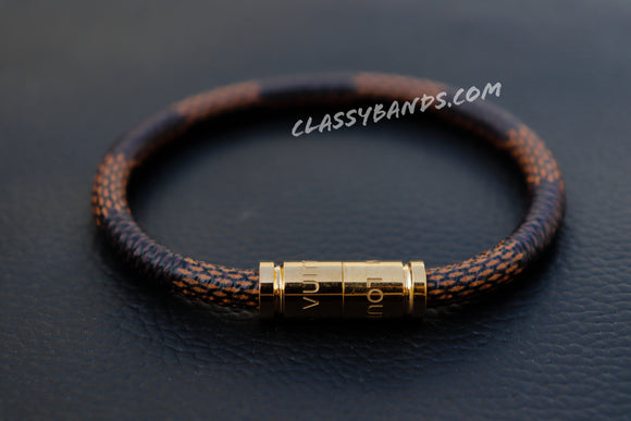Classy Brown Leather Magnet Bracelet