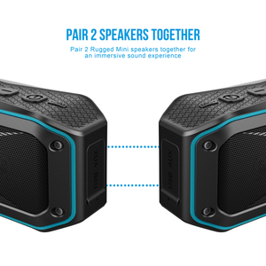 2 black and blue ATG rugged mini wireless bluetooth speaker