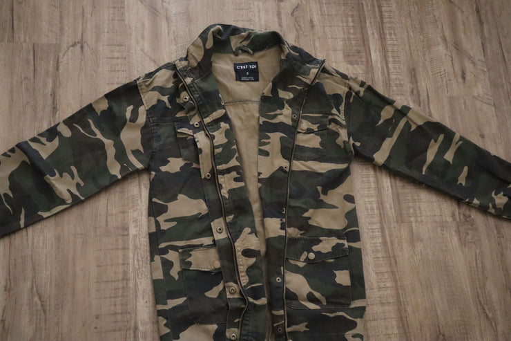 Long Fit Camo Jacket