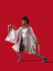 """TRUTH"" DOUBLE SIDED KIMONO - Ninousha Fashion"