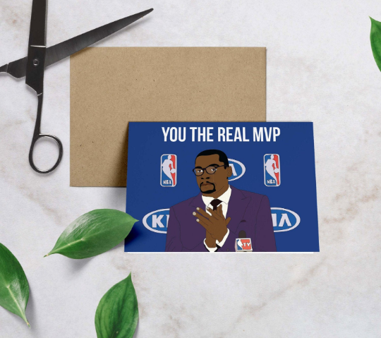 Kevin Durant, You the Real MVP Dad Birthday Card