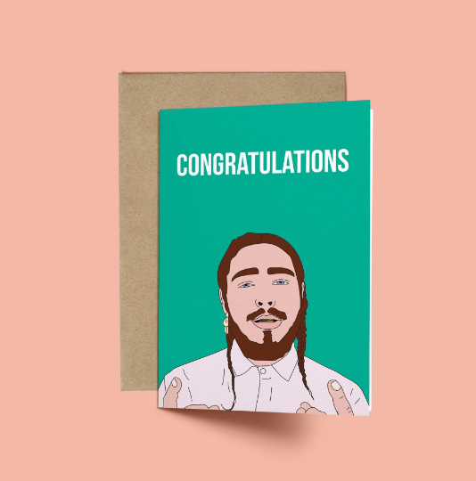 Post Malone, Congratulations Card