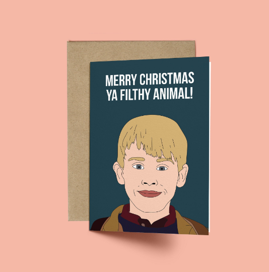 Home Alone, Merry Christmas Ya Filthy Animal! Funny Christmas Card