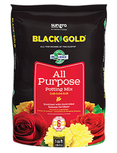 Load image into Gallery viewer, Black Gold All Purpose Potting Mix 2 Cubic Foot Bag