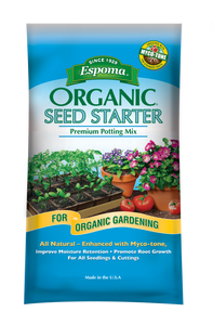 Espoma Organic Seed Starter Potting Mix 16 Quart Bag