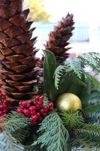 Load image into Gallery viewer, Holiday Drop-in Liner 12in Dancing Pine Cones