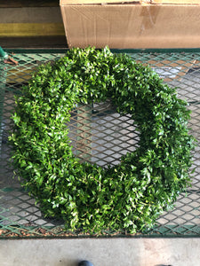 Wreath Boxwood Handmade 12-14in