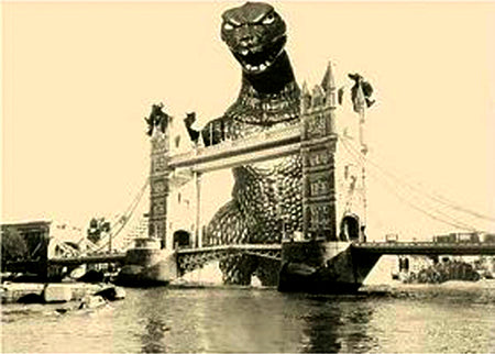 """Godzilla Gaia at Tower Bridge"""