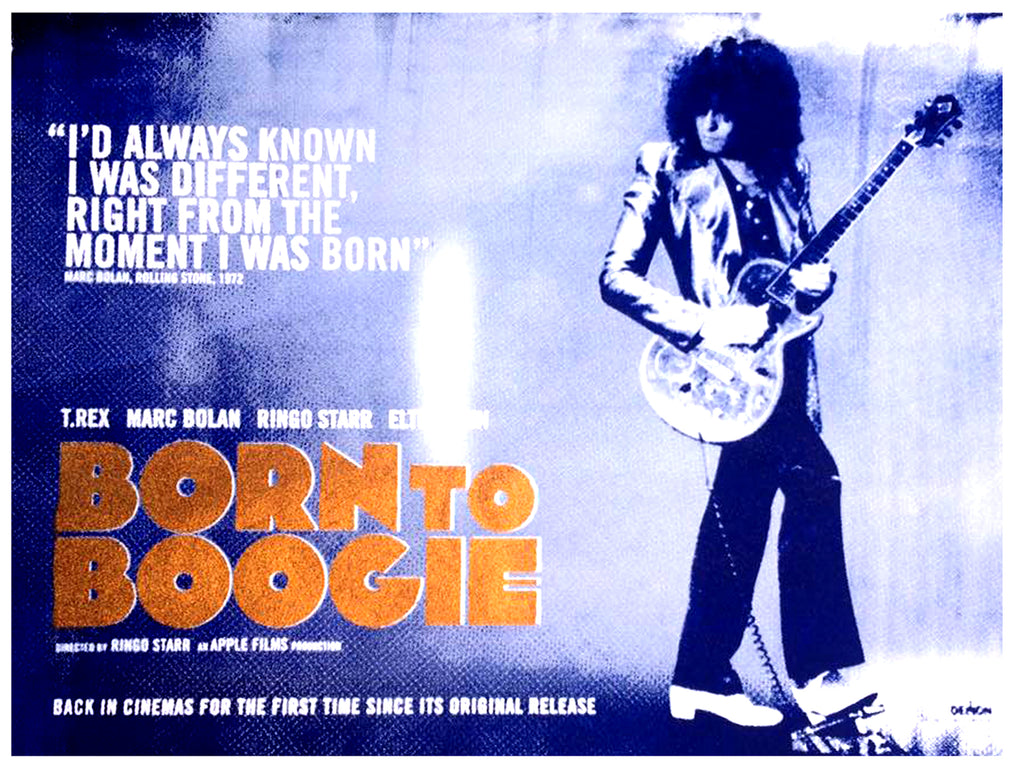 """Born To Boogie"" XL Print - Blue & Gold Diamond Dust"
