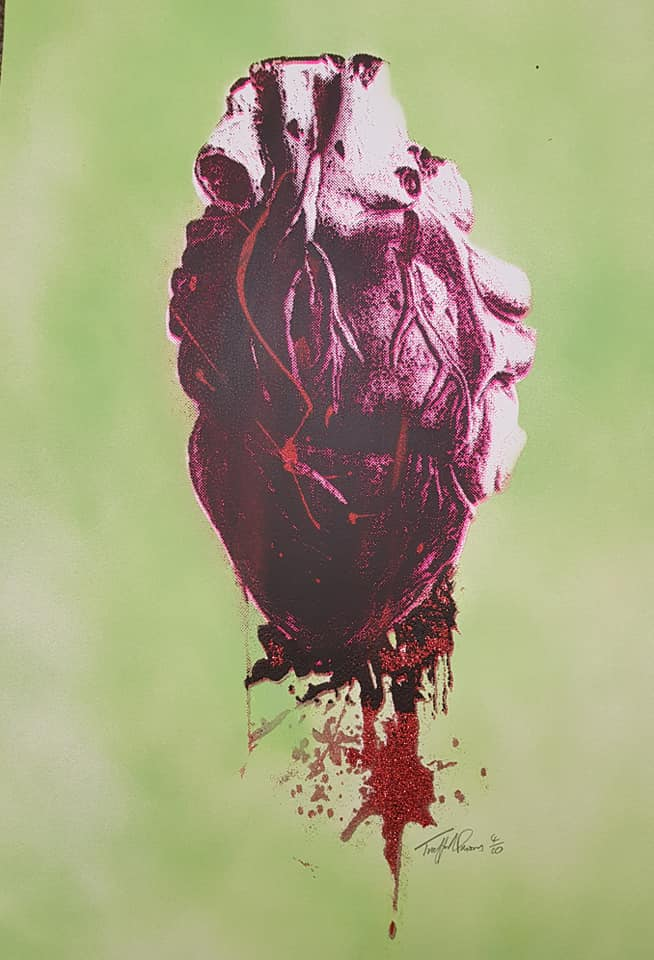 Bleeding Heart with diamond dust blood - 8 colour ways
